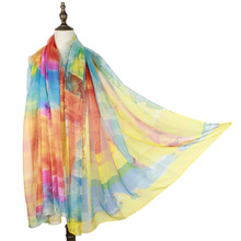 new silk shawls oversized beach wraps cover ups soft fashion holiday out capes summer shawls printed accessories