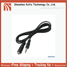KUYiA Free Shipping+50pcs/lot+3.5mm Male to Female Stereo Audio Extension Cable Cord(approx.1.45m)