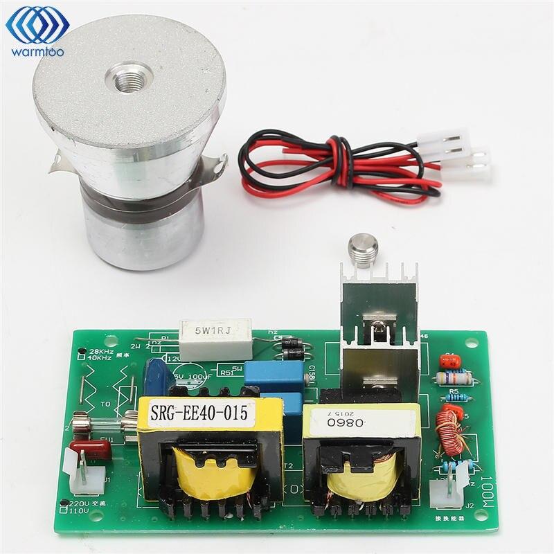 Nettoyeur ultrasonique de transducteur de nettoyage de 100 W 28 KHz haute performance + panneau de conducteur de puissance 220VAC pièces de décapant ultrasonique