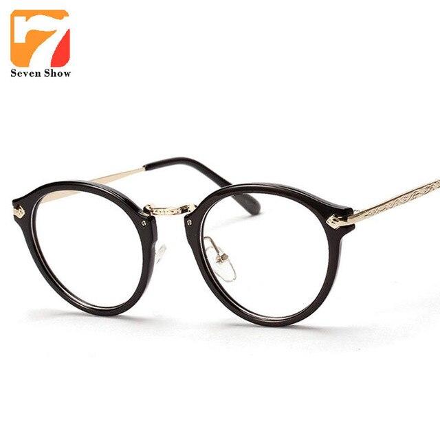 cd5197d60 Oval Óculos de Armação Armações de Óculos de Lente Clara Óculos Homens  Marca de Moda de