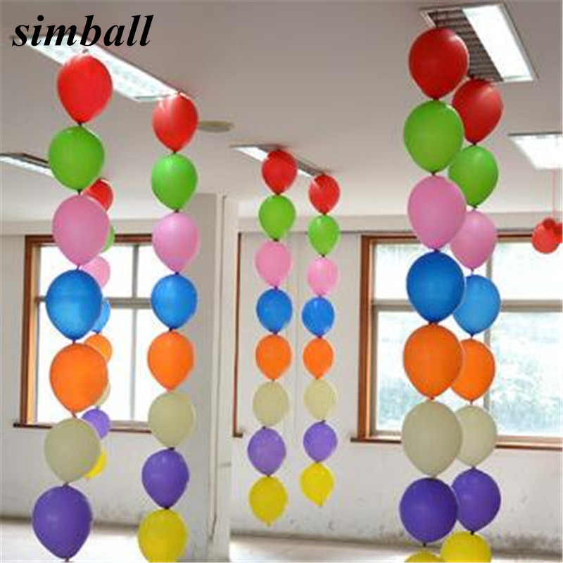10pcs Multicolor 12 inch Tail latex Balloons Birthday Wedding Party Decoration long Air Balloon Classic Toys Holiday Supplies