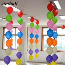 10pcs Multicolor 12 inch Tail latex Balloons Birthday Wedding Party Decoration long Air Balloon Clas