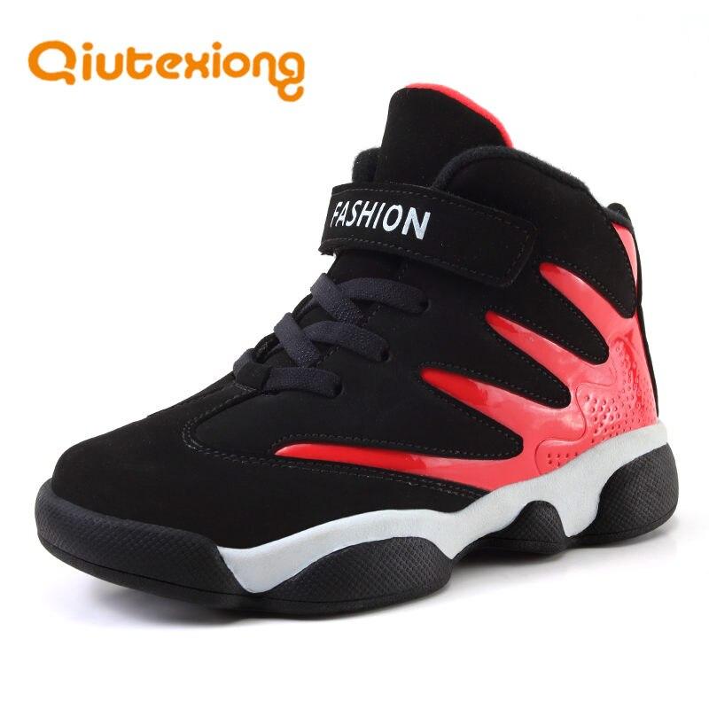QIUTEXIONG printemps automne enfants baskets pour enfants chaussures garçons chaussures décontractées hiver Sport formateur tissu chaud chaussures étudiant