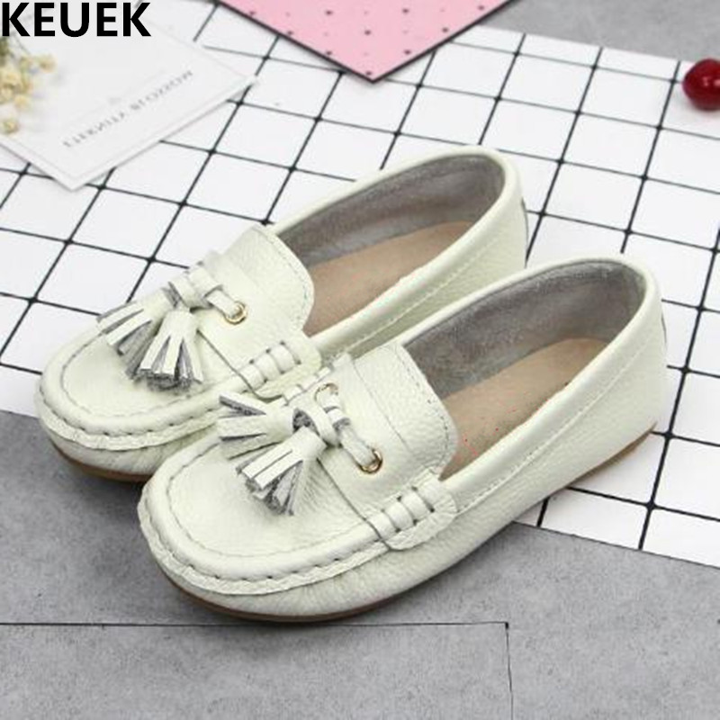 New Spring/Autumn Children Shoes Boys Girls Leather Shoes Baby Toddler Loafers Cow Muscle Flats Genuine Leather Kids Shoes 04