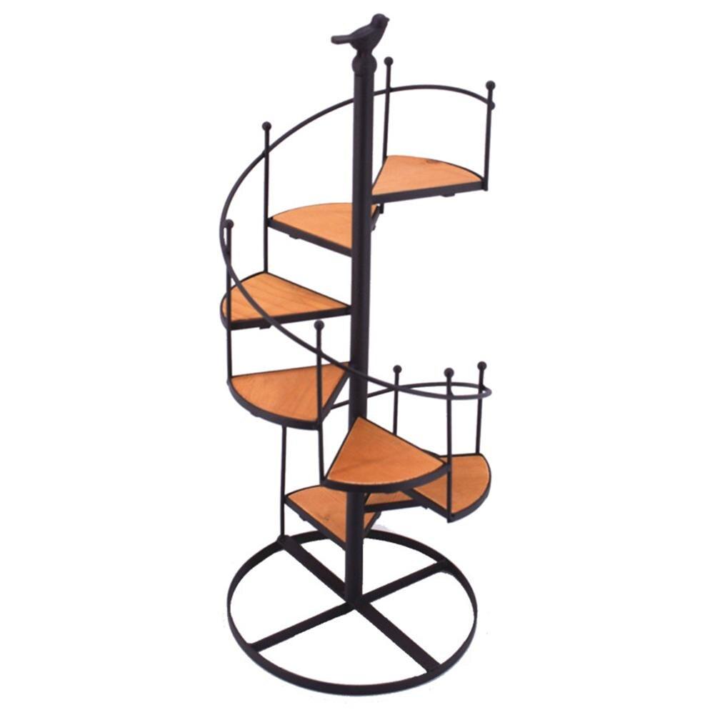DS Стиль s железная черная винтовая лестница стиль подсвечник десерт завод Стенд украшение - Цвет: black
