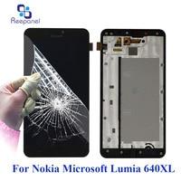 No Dead Pixel Screen For Microsoft Nokia Lumia 640XL 640 XL LCD Panel Touch Screen Digitizer