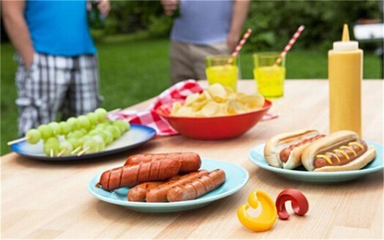2 Stücke Körperliche Lust Wurst Schneider Spiral Grill Hot Dogs ...