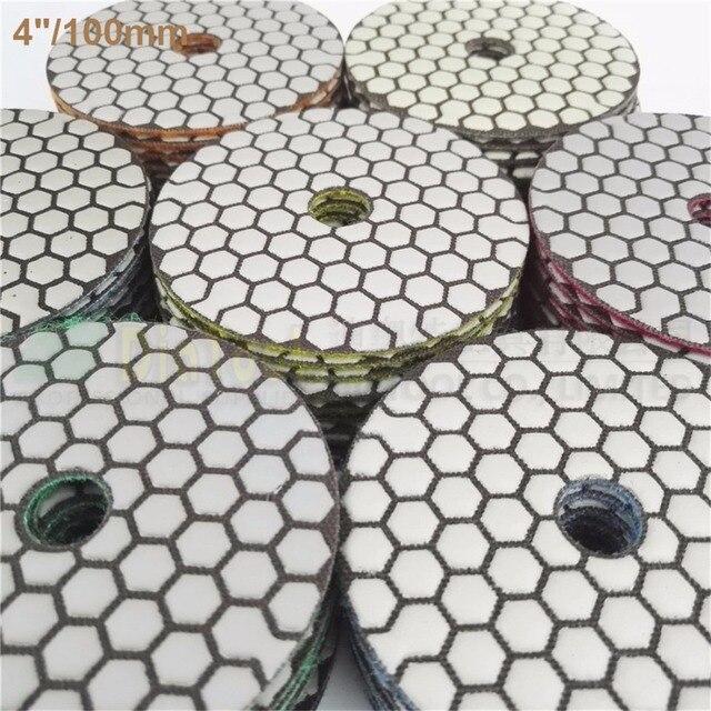 DIATOOL 7 ensembles (10 pcs/ensemble) 4 pouces B Sec Tampons De Polissage De Diamant 70 pcs Dia100mm Résine Bond Diamant Flexible Tampons de Polissage