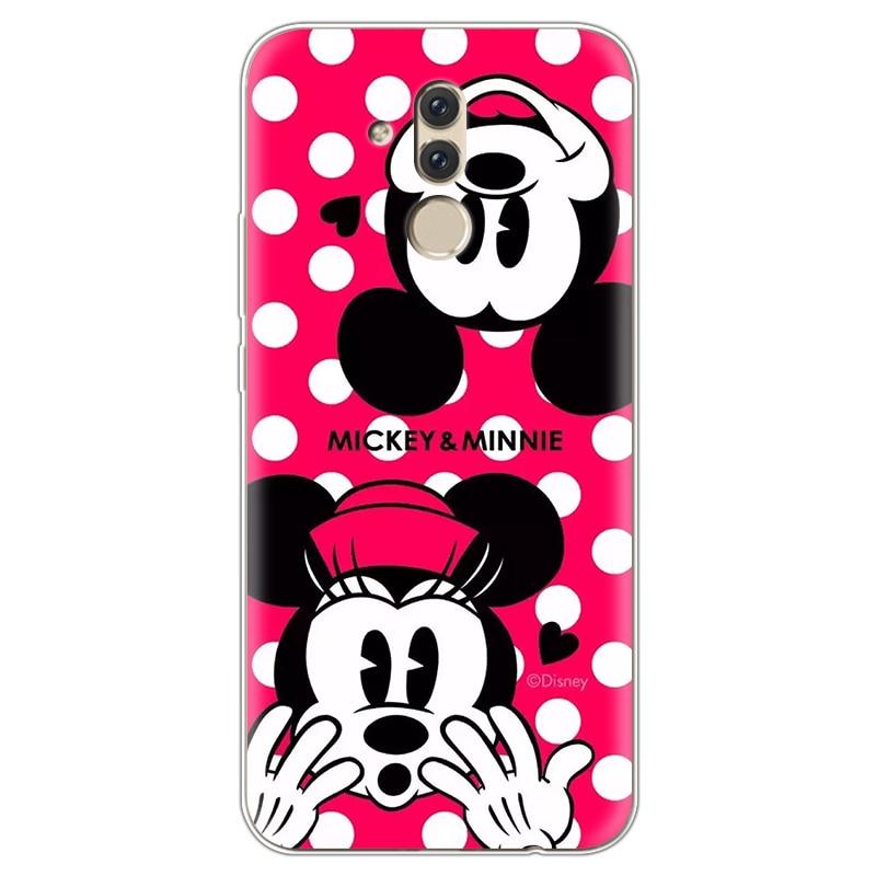 TPU Soft Minnie Mickey Case For Huawei Mate 20 Lite Case 6.3
