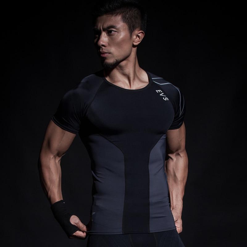 Compression Shirts Men Elite T-shirts Short Sleeve Fitness 2017 Male Crossfit Bodybuilding Gym Fitness Running Wear Large Assortment