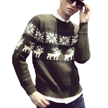 New Arrival Men Sweaters Full Sleeve Slim Fit Pullovers Printed O-Neck Clothes Antumn Winter Tops Casual Loose Sweaters