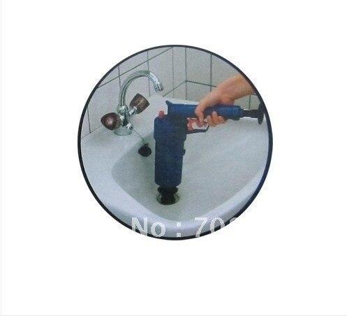 air pump gun air pump drain buster bath sink toilet in toilet plungers from home garden on. Black Bedroom Furniture Sets. Home Design Ideas
