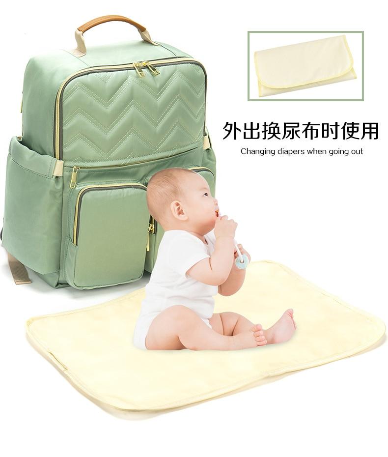 2019 New Baby Diaper Bag Interface Large Capacity Waterproof Nappy Bag Kits Mummy Maternity Travel Backpack Nursing (12)