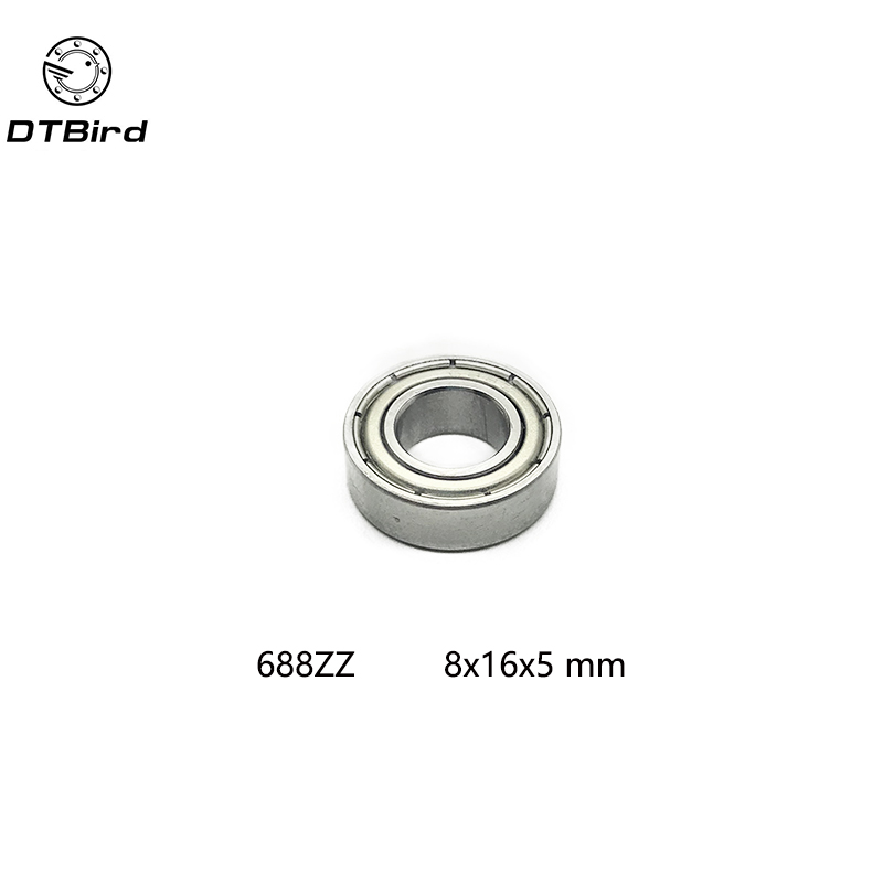 Free shipping 10pcs 688ZZ (8x16x5 mm) Metal Double Shielded Ball Bearing Bearings 688z 688 zz 10pcs lot 688zz miniature ball bearings metal double shielded miniature metal steel bearing 8x16x5mm