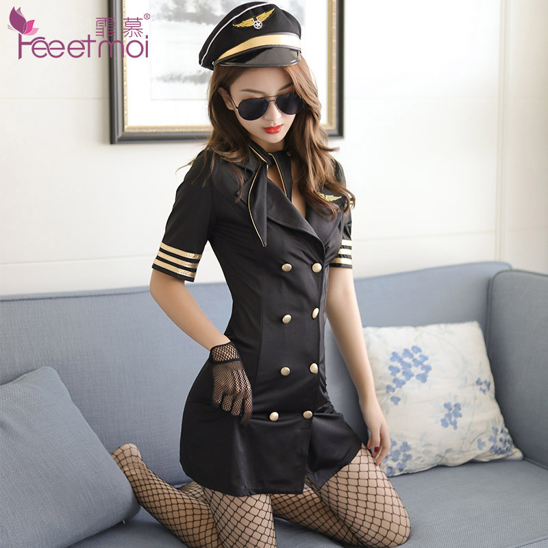 Buy Stewardess Uniform Porn Babydoll Hot Sexy Erotic Lingerie Women Seducive Catsuits Erotically Clothing Leotard Negligee