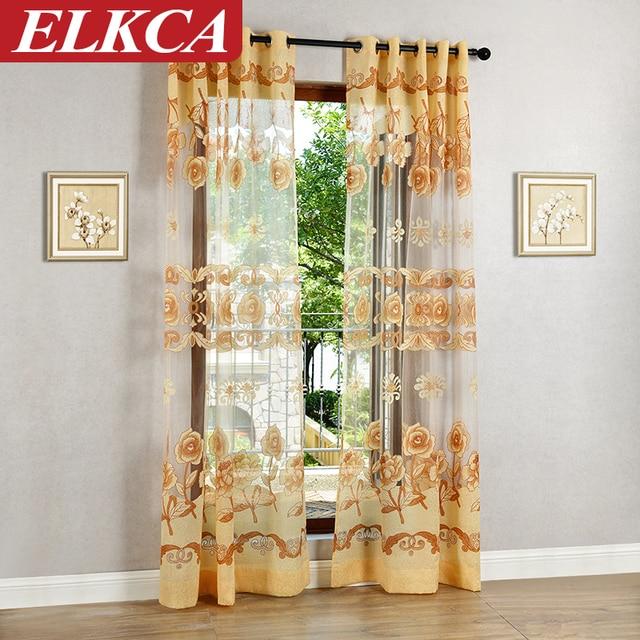 Ramada Classica Eleganza Fiore Tull CurtainsFabric per Sala Da ...