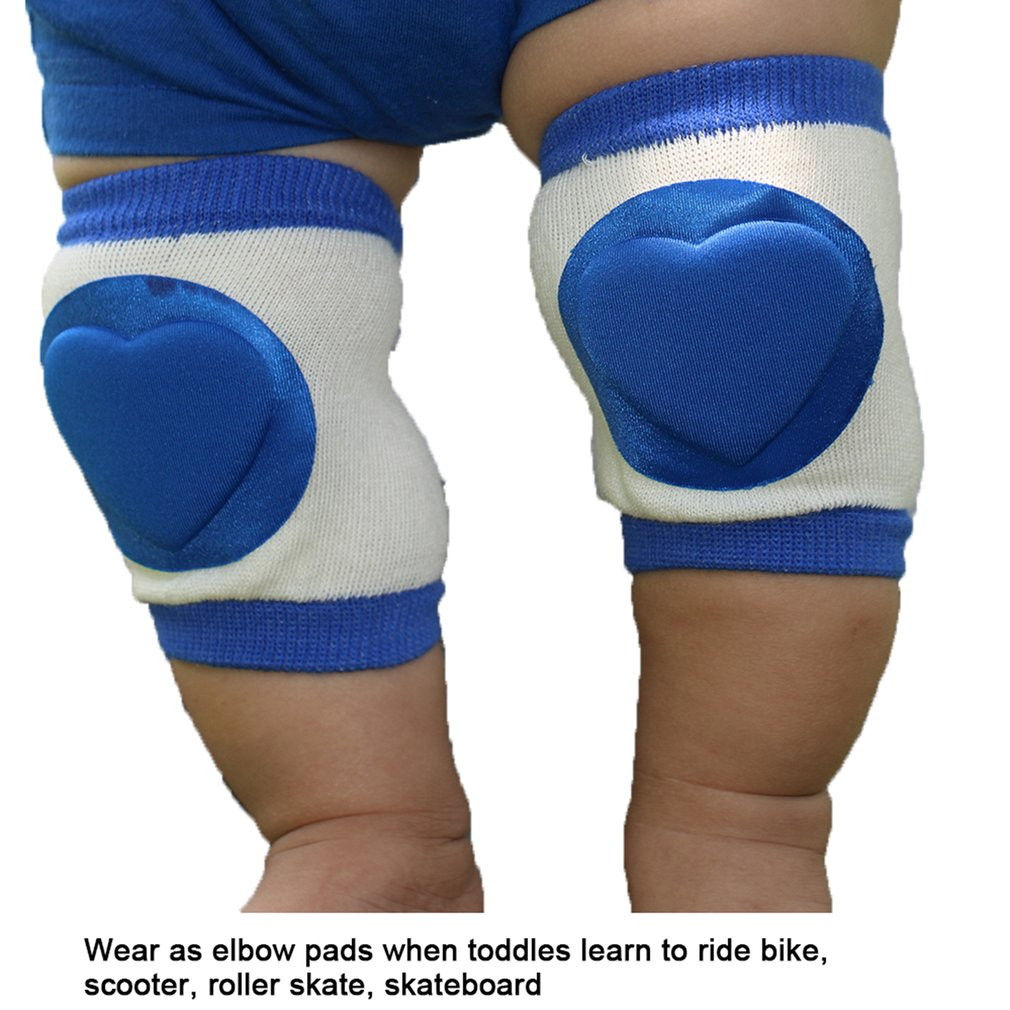 Knee Pads A11-BU A Pair/Set Chilren Baby Safety Crawling Elbow Cushion Anti-Slip Sport Infants Baby Knee Pads Leg Warmers