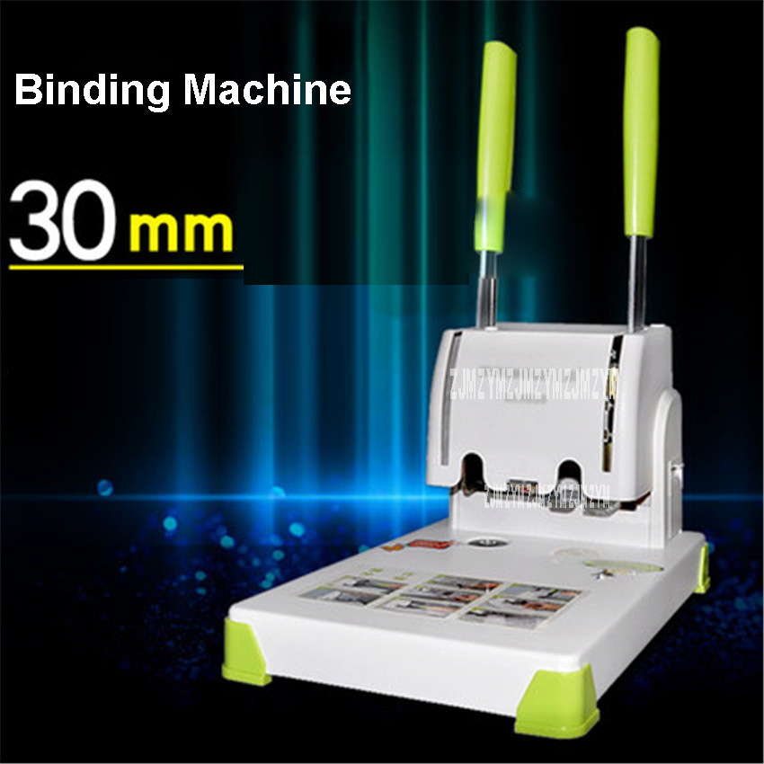 цена на High quality SZ9030 financial documents binding machine hot melt riveting tube binding machine 220V Drilling diameter 5.2mm
