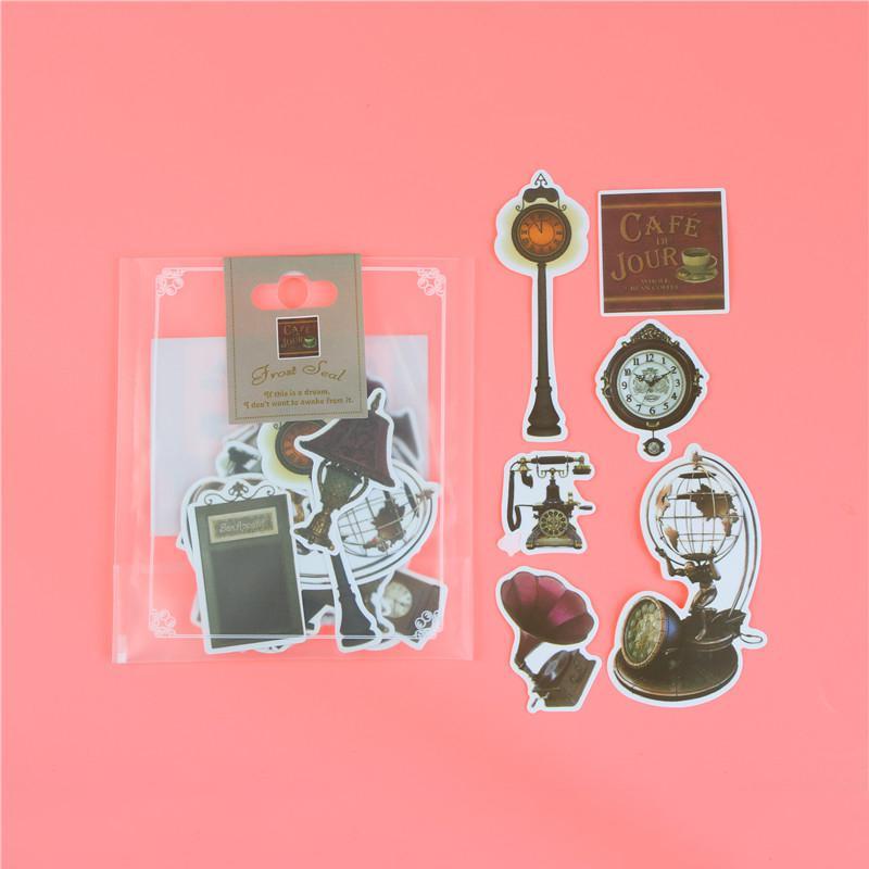 1 пакет, милые Мультяшные декоративные наклейки в Корейском стиле, клейкие наклейки, скрапбукинг, сделай сам, декоративные наклейки для дневника - Цвет: O
