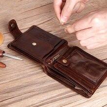Cobbler Legend натуральная яловая кожа двойной клатч из натуральной кожи мужские короткие кошельки мужские ID Кредитные карты держатель