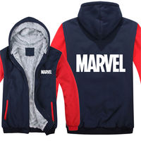 2019 Fashion Captain America Marvel zipper hooded Jacket winter Mans Casual Wool Fleece Man Coat Marvel Sweatshirts Pullover