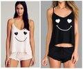 Wildfox conjuntos de pijama de verão da marca sexy lingerie babydolls camis regata + shorts panty set/terno noite vestido salão casa sleepwear