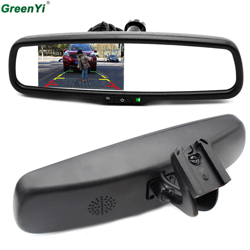 4.3 Inch TFT LCD Car Special Bracket Rear View Mirror Monitor for Parking Assistance System With 2 RCA Video Player Input-in Car Monitors from Automobiles & Motorcycles