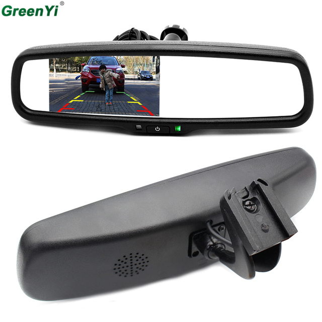 4.3 Inch TFT LCD Car Special Bracket Rear View Mirror Monitor for Parking Assistance System With 2 RCA Video Player Input