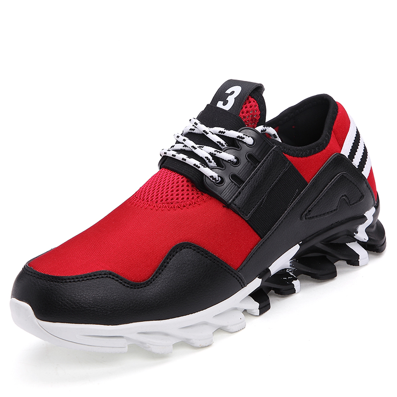 2018 New Trend Men Running Shoes Elastic Breathable Massage Athletic Sapatos Shoes Summer/Autumn Men