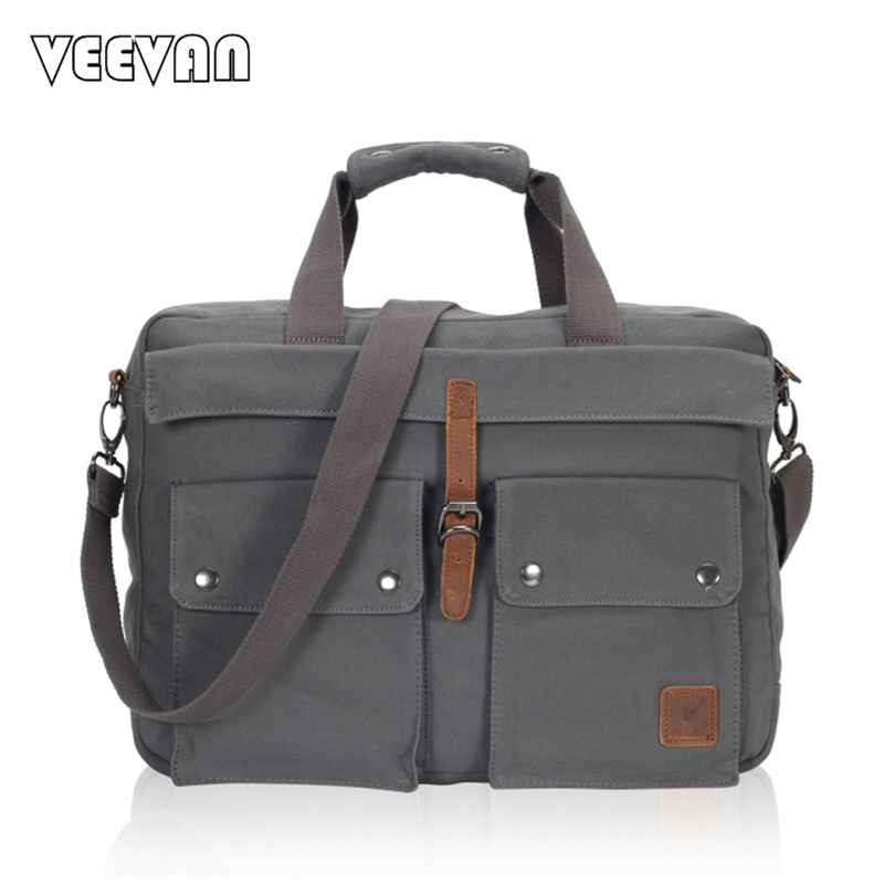 2017 VEEVANV Men Messenger Bags Business Handbag Shoulder Bag Vintage Canvas Travel Briefcase Laptop Crossbody Bag Men's Postman vintage crossbody bag dark khaki canvas shoulder bags men messenger bag man casual handbag tote business briefcase for computer