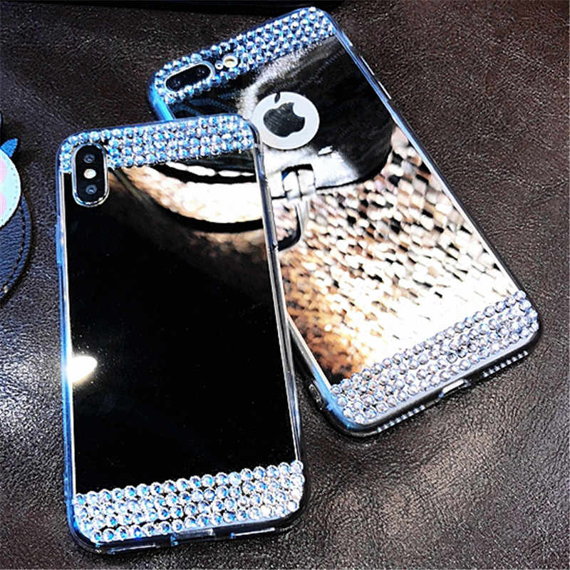 Fashion Rhinestone Mirror Plating Case For Samsung Galaxy A3 A5 A7 J2 Pro J3 J4 J5 J6 J7 J8 Plus 2015 2016 2017 2018 EU U.SCover