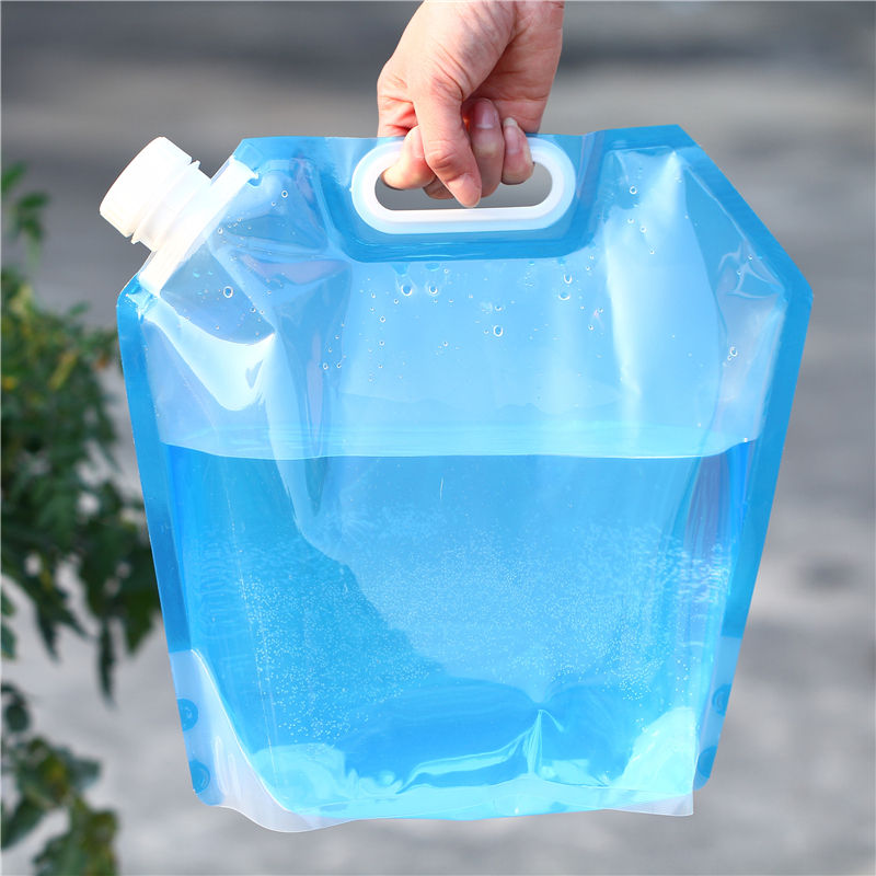 US $1 9  Dropshipping Supported 5L BPA free Folding Camping Water Tank /  Portable Gasoline Tank / Collapsible Car Emergency Water Bottles-in Water