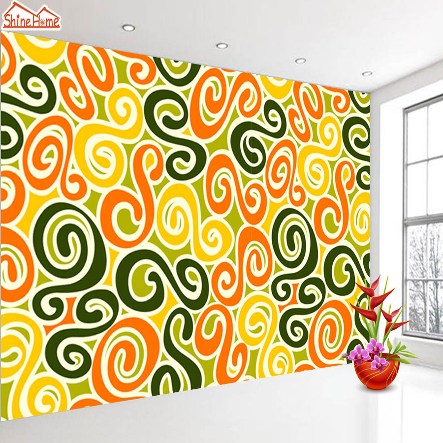 ShineHome-Abstract Circle Leaf Black White Background Wallpapers Rolls 3 d Wallpaper for Livingroom Walls 3d Kids Room Paper шорты roxy шорты