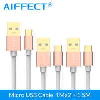 AIFFECT 3 Pieces Micro USB Cable High Speed Micro-USB Cable Micro B to USB Data Charging Sync Cable Cord Line 3.3Ft X2 and 5FT