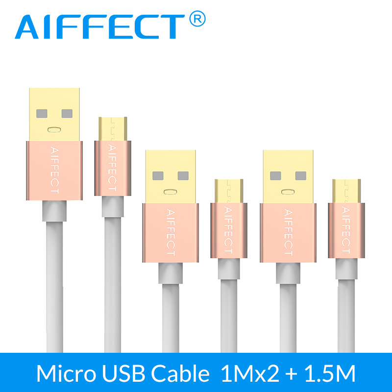 AIFFECT 3 Pieces Micro USB Cable High Speed Micro USB Cable Micro B to USB Data Charging Sync Cable Cord Line 3 3Ft X2 and 5FT in Mobile Phone Cables from Cellphones Telecommunications