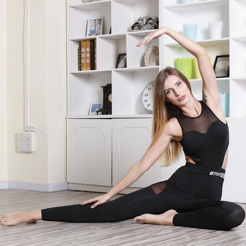 black track suit catsuit mesh jumpsuit one piece activewear fitness dancing yoga sport legging workout pants jegging jogging one piece suits (5)