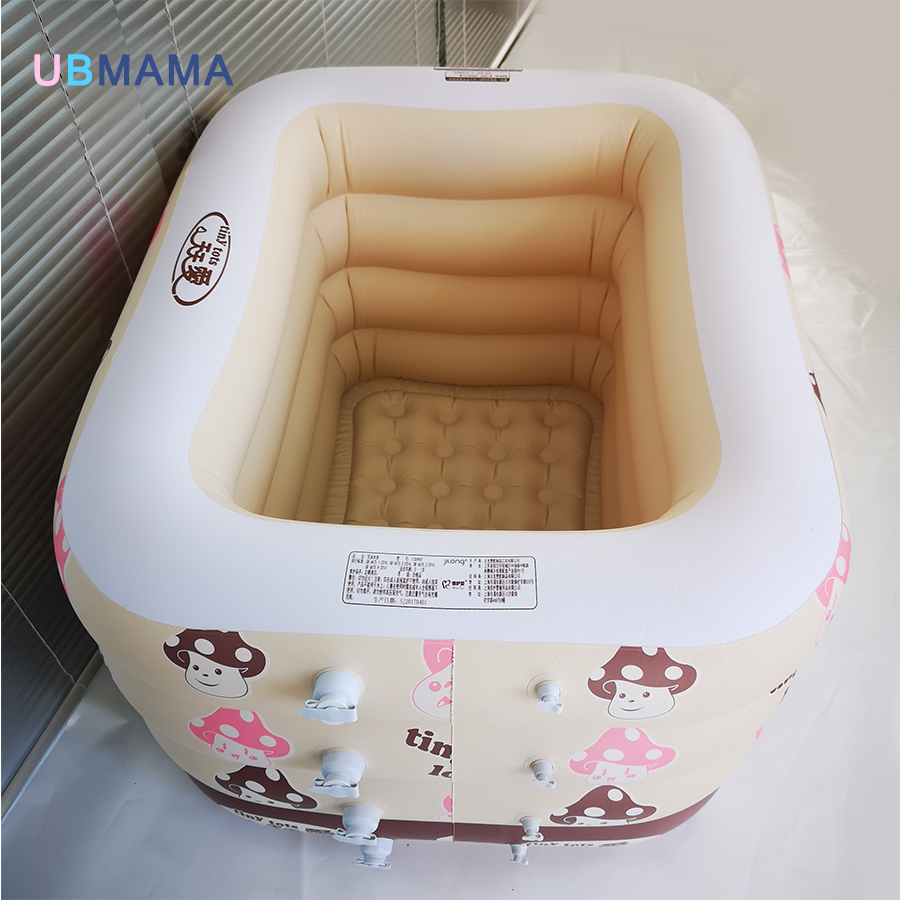 Cartoon insulation plastic inflatable square four children baby ...