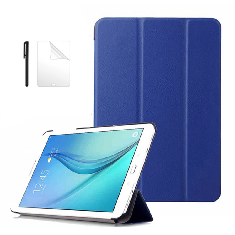 Slim Flip PU Leather Case for Samsung Galaxy Tab A 8.0 SM-T350 T355 P350 P355 smart Cover For Samsung Tab A 8.0 case+film+pen