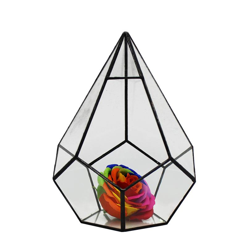 NEUE Diamant Design Glas Geometrische Terrarium Sukkulenten Kaktus Moos Microlandschaft Pflanzer