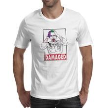 Damaged Colorful Joker T-shirt Print Cool Creative T Shirt Design Pop Style Women Men Top