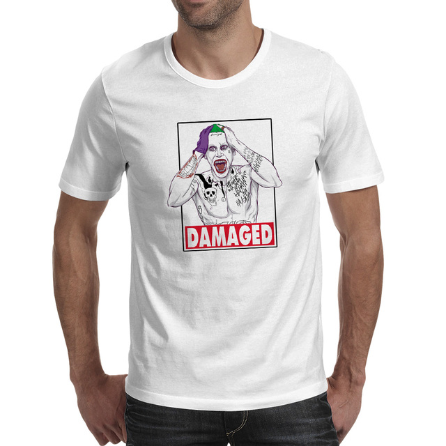 Damaged Colorful Joker T shirt Print Cool Creative T Shirt Design ...
