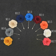 16 Colors of Men's Lapel Pins For Wedding Suits