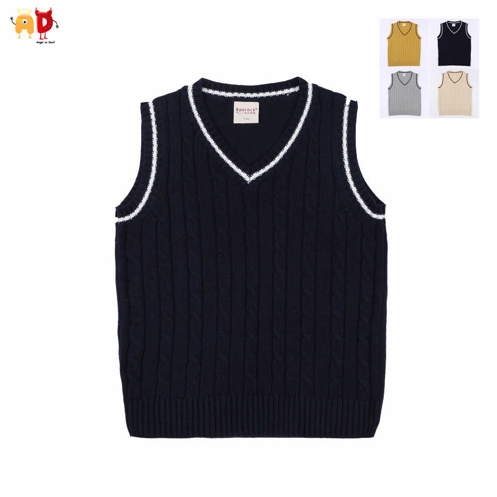 AD Boys Girls Sweaters Vests Teenagers Winter Spring Sweaters Children's  Clothing Quality Kids Clothes 4 14Y|girls sweater|girls sweater vestsweater  child - AliExpress