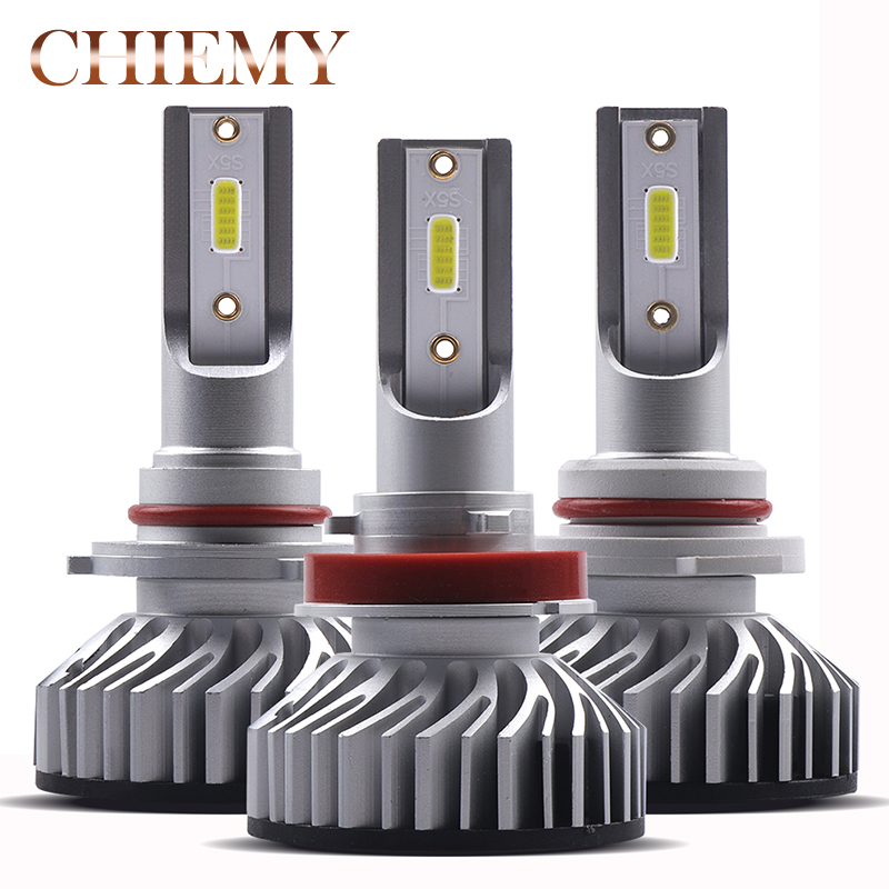 Mini H11 H4 H7 Auto LED Bulbs 6500K CANBUS Car Headlight Fog Lights 9006 9005 HB3 HB4 9012 12V White 10000lm/set Auto Headlamp h7 3 5w 68 smd led 6500k 310 lumen white fog lights for car pair