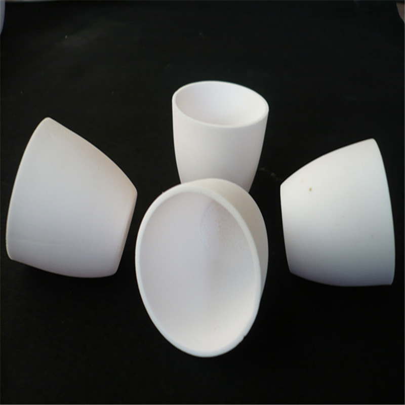 high purity alumina al2o3 ceramic crucible dia90x76mm 250ml capacity arc-shaped hot sale high purity welding tungsten crucible 90 2mm 130 mm paypal is available