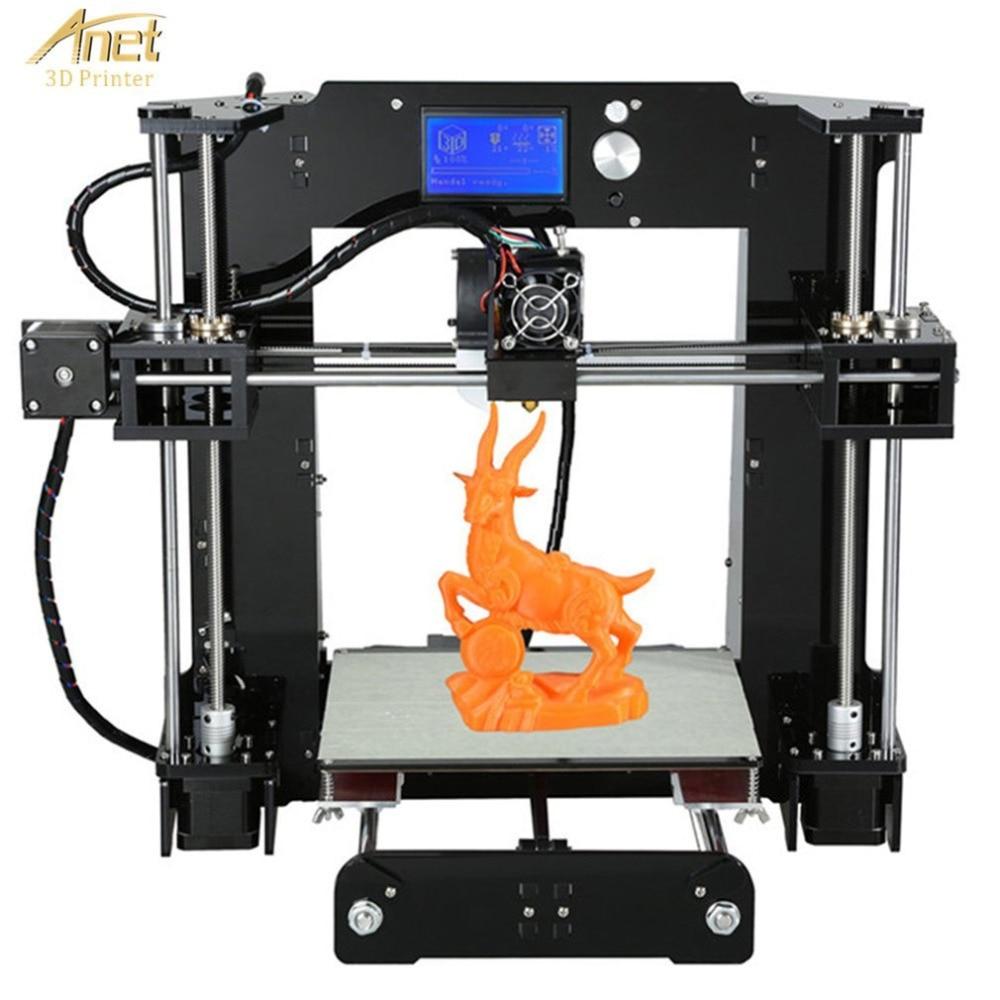 Anet A6 Desktop 3D Printer Kit Big Size High Precision Reprap Prusa i3 DIY 3D Printer Aluminum Hotbed Gift Filament 8G SD Card new anet a8 t 3d printer desktop precision reprap prusa i3 arcylic diy 3d printer kit filament sd card aluminum hotbed tools