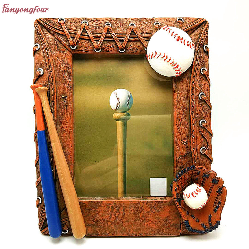 Baseball Photo Frame Mould Silicone Clay Mold Mould