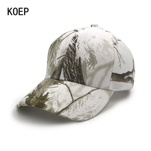 KOEP Forest Bionic Real Tree Camouflage Baseball Cap Womens Mens Snapback Snow