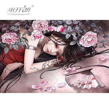 Michelangelo Wooden Jigsaw Puzzles 500 1000 Pieces Tattoo Girl Cartoon Painting Art Kids Educational Toys Gift DIY Collectibles michelangelo wooden jigsaw puzzles 500 1000 1500 2000 pieces old master lotus flower mandarin duck shen quan art educational toy