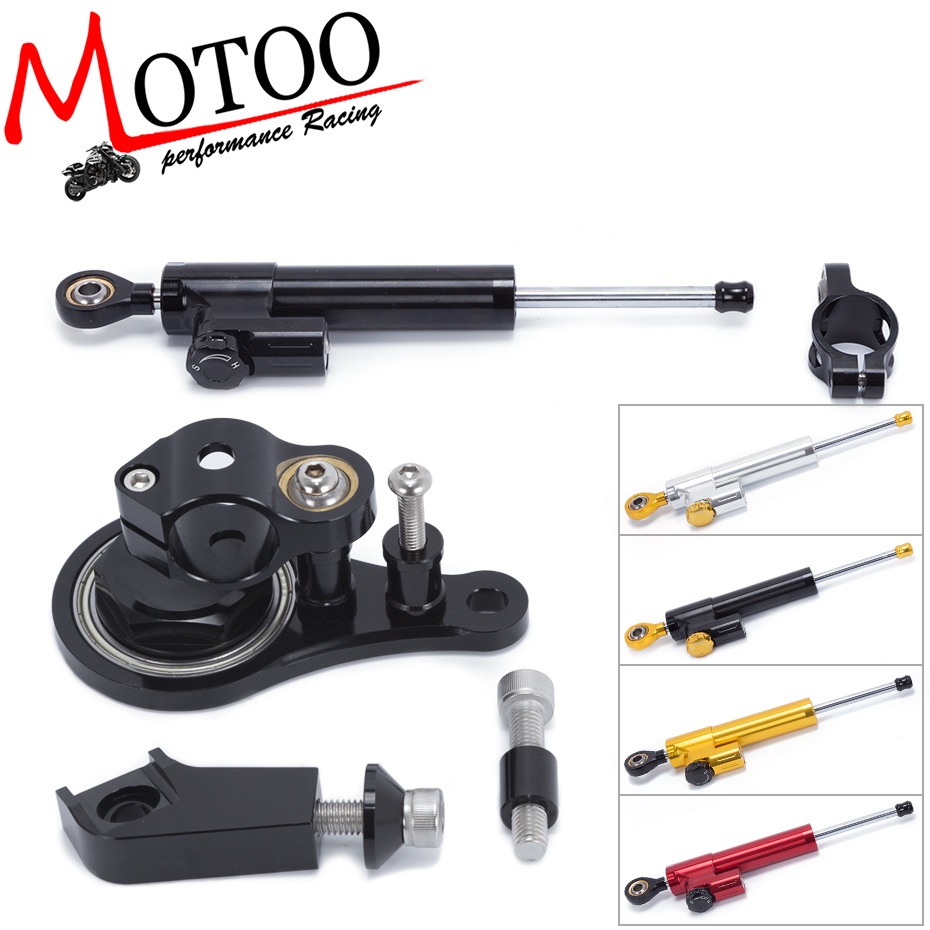 Motoo - FREE SHIPPING For Kawasaki ZX6R 2005-2006 ZX-6R Motorcycle Aluminium Steering Stabilizer Damper Mounting Bracket Kit кулон тигровый глаз серебро 925 пр